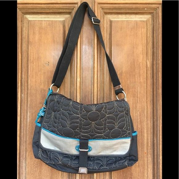 Fossil Handbags - NWOT Keyper Quilted Nylon Messenger Bag by Fossil